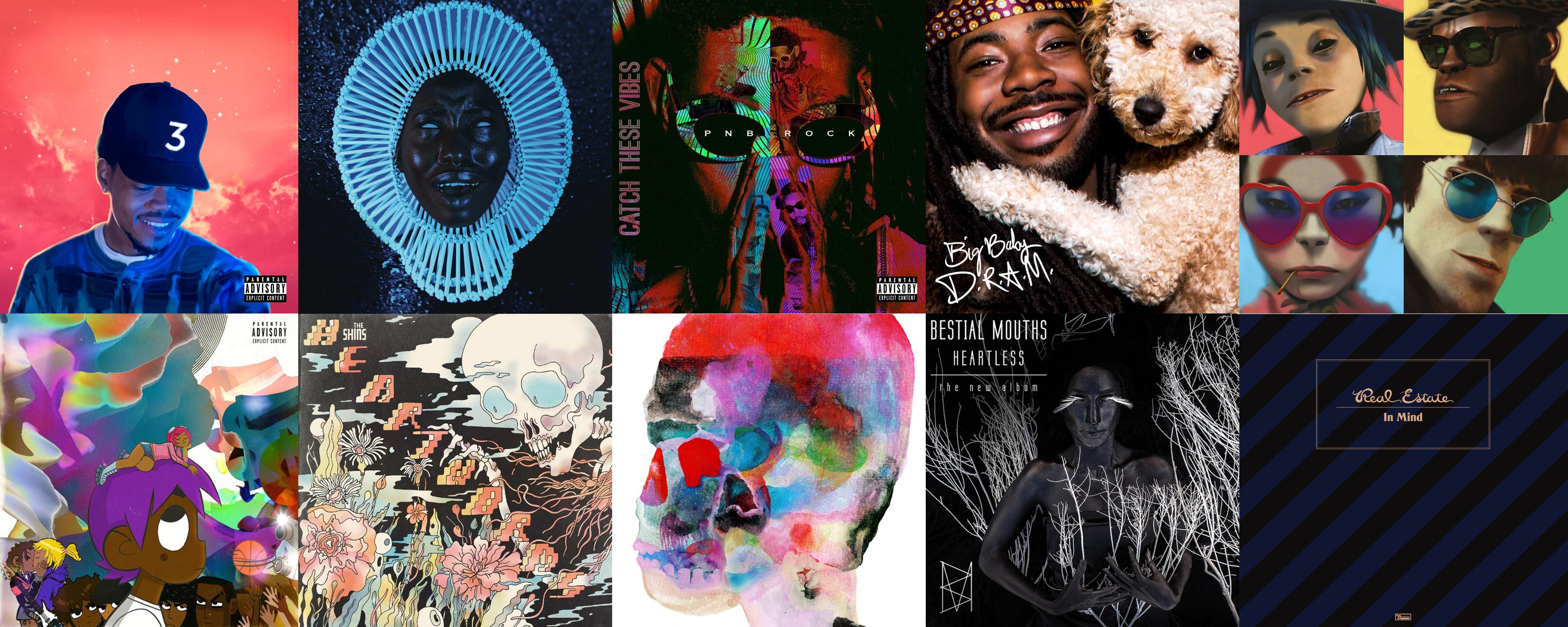 2017 top artists